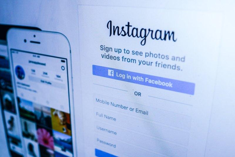 screen grab of Instagram